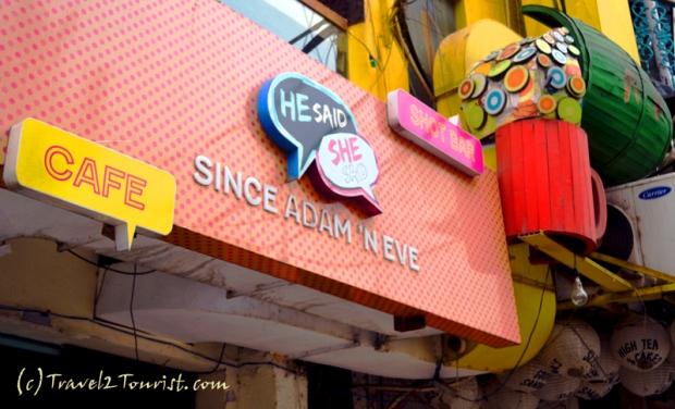 Street design at Hauz Khas